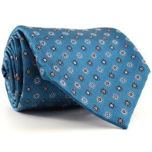 Dolcepunta Woven Silk Seven 7-Fold Neck Tie Teal